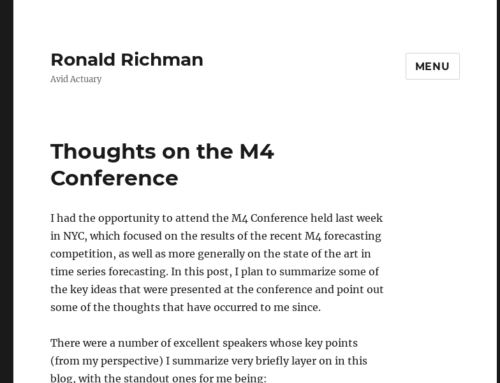 Thoughts on the M4 Conference by Ronald Richman